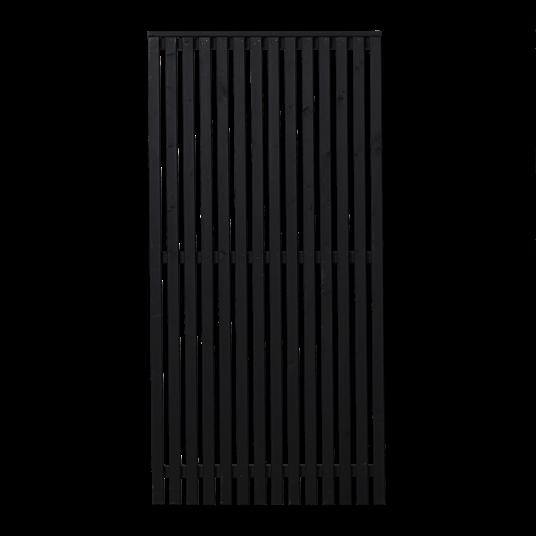 Plus Sendai Zaun 90x180 cm - schwarz grundiert