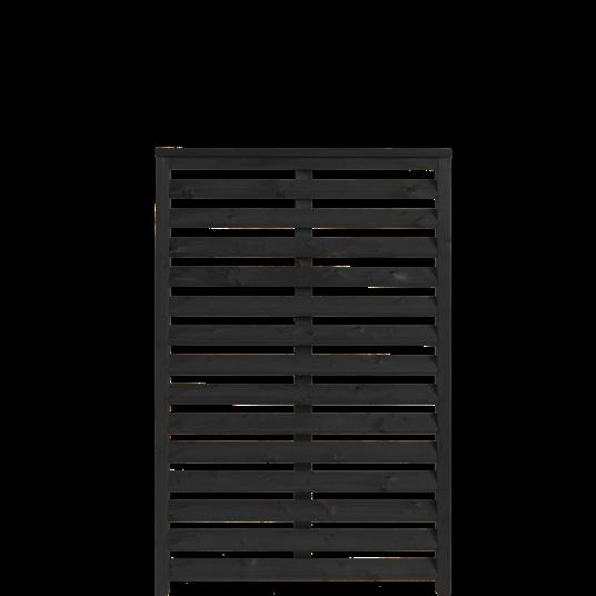 Plus Kyoto Zaun 80x120 cm - schwarz behandelt