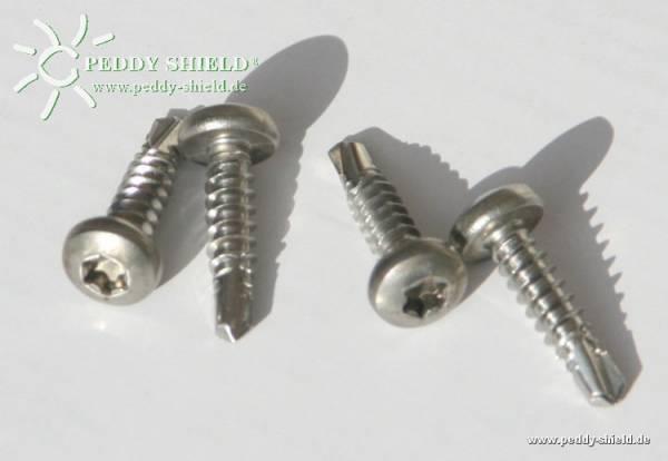 Alu-Bohrschrauben -Edelstahl- 4 Stück - für Montagebausätze an Aluminiumbleche