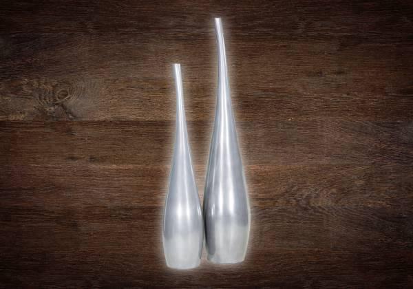 GLORY Bodenvase - aluminium