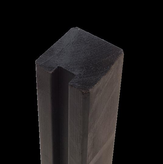 Plus Profil-Pfosten t/afslutning m/1 Nuten 90x90xmmx267cm