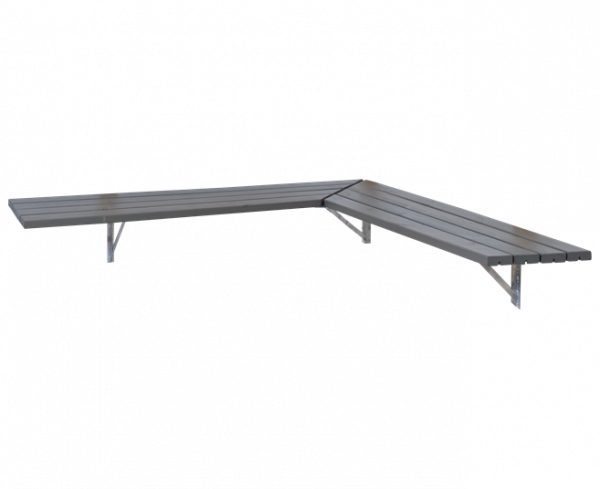 Plus Ecklösung komplett: Masse 207x207cm Tiefe:50cm - Graubraun