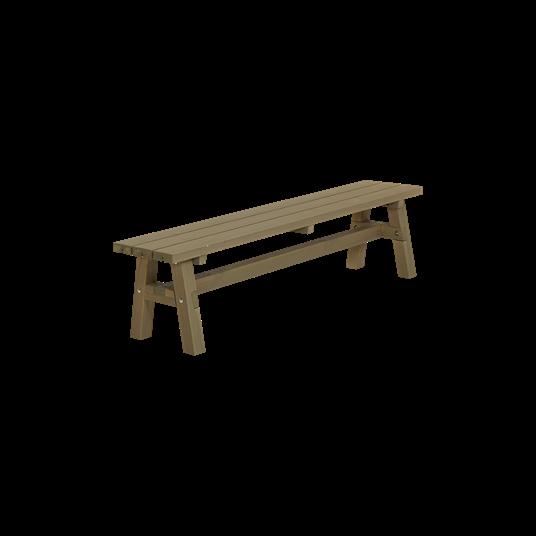 Plus Country Plankenbank 177x37x46 cm - Farblich behandelt graubraun