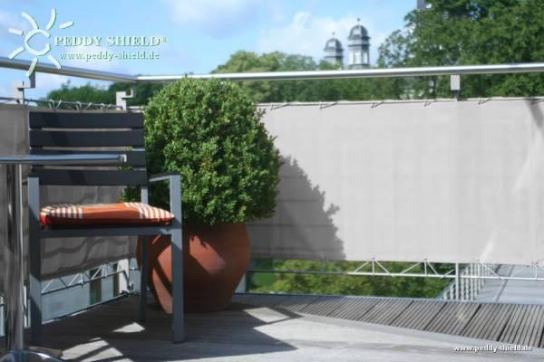 Balkonumrandung 75 x 300 cm - Farbe silbergrau