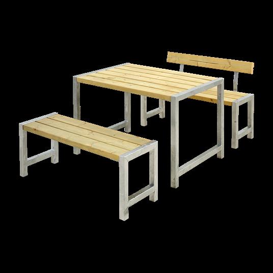 Plus Cafesatz m/Tisch + 2 Bänke + 1 Lehne
