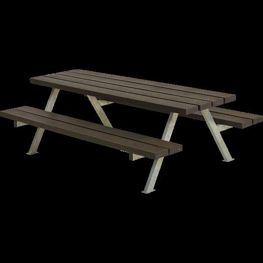 Plus Alpha Junior Sitzgruppe 177x118x57/32,5 cm. Recycelter Kunststoff schwarz