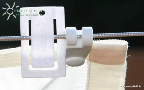Laufhakenstopper - 4 Stück - Farbe weiß