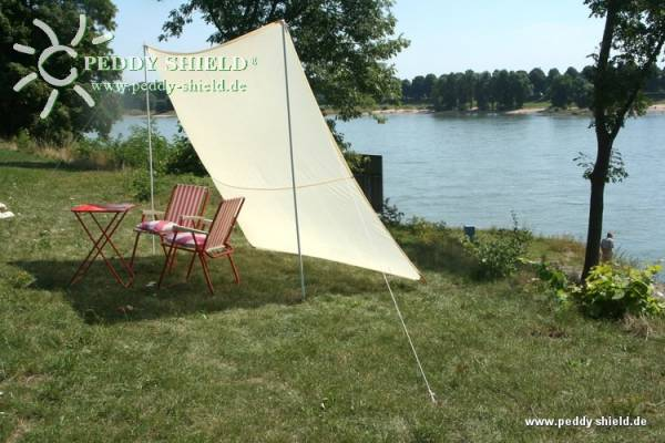 Camping-Freizeit-Sonnensegel 250 x 300 cm - Farbe hell elfenbein