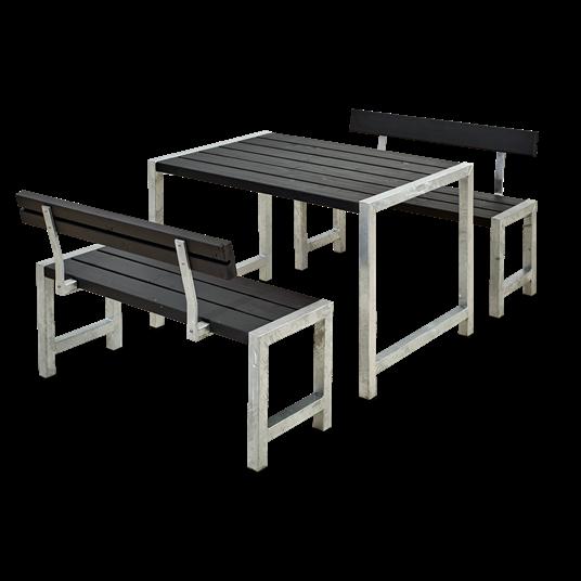 Plus Cafesatz m/Tisch + 2 Bänke + 2 Lehne
