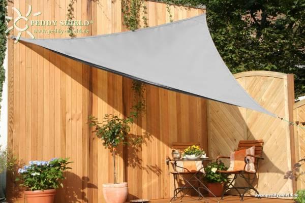Dreiecksonnensegel 360 cm - HDPE - Farbe silbergrau