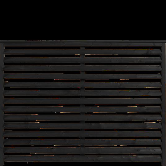 Plus Kyoto Zaun 160x120 cm - schwarz behandelt