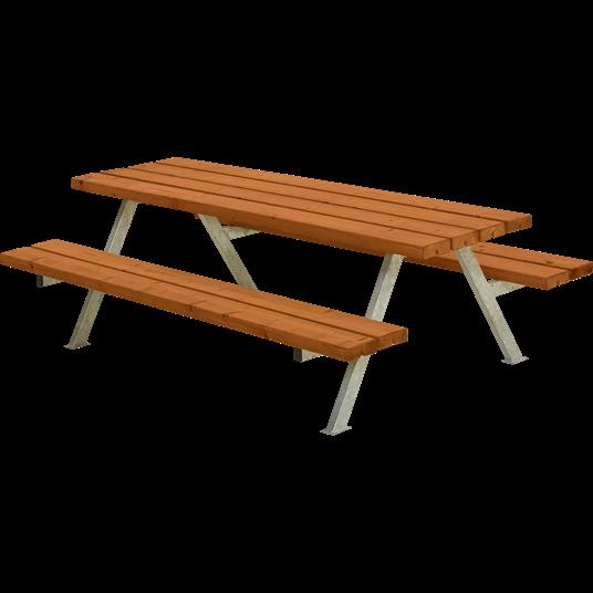 Plus Alpha Junior Sitzgruppe 177x118x57/32,5 cm. Farblich behandelt teak