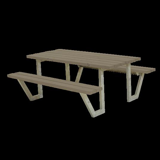 Plus Wega Sitzgruppe 177x161x73/45 cm. Farblich behandelt graubraun