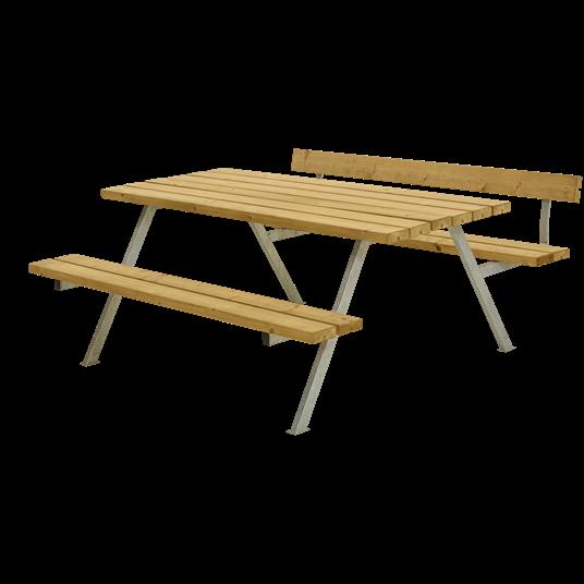Plus Alpha Sitzgruppe m/1 Rückenlehne 177x173x73/45 cm. unbehandelte Lärche