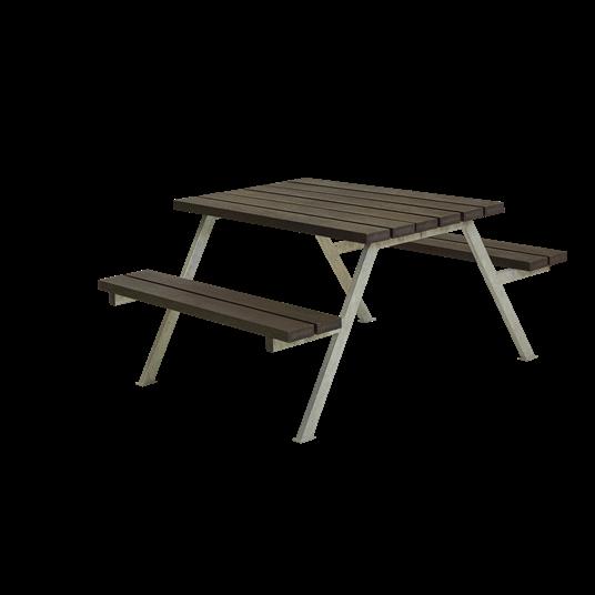 Plus Alpha Sitzgruppe 118x161x73/45 cm. recycelter Kunststoff schwarz