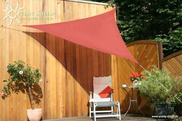 Dreiecksonnensegel 300 cm - HDPE - Farbe terracotta