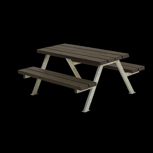 Plus Alpha Junior Sitzgruppe 118x118x57/32,5 cm. Recycelter Kunststoff schwarz