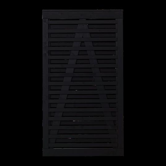 Plus Osaka Einzeltor 100x180 cm - schwarz grundiert
