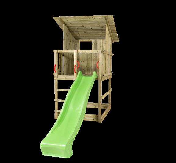 Plus Play Spielturm m/Dach einschl. grüner Rutsche