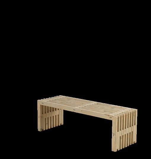 Plus Rustik Lattenbank Design 138x49x45cm - farbgrundiert Treibholz