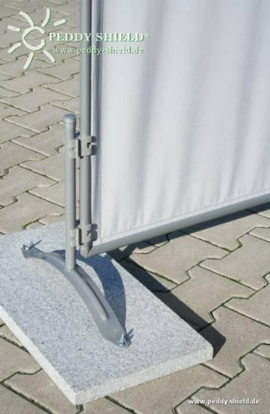 Combi-Ständer für Paravent - aufschraubbar für Granitplatte