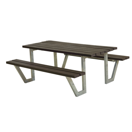 Plus Wega Sitzgruppe 177x161x73/45 cm. recycelter Kunststoff schwarz