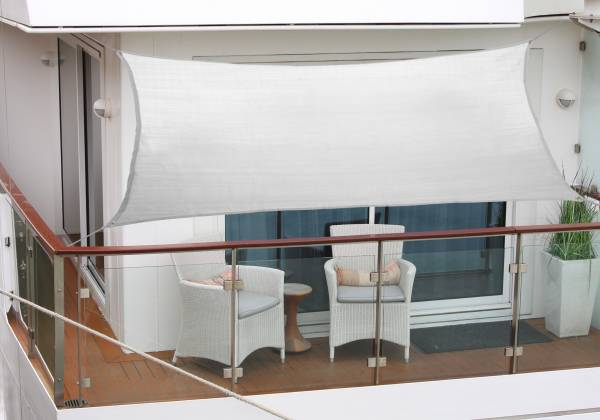Balkon-Sonnensegel 270 x 140cm silbergrau Polyesterstoff